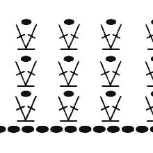 A tüll ruha felső részének vázlata