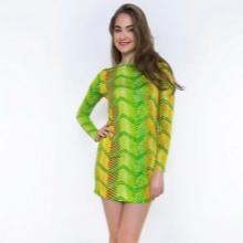 Vaaleanvihreä mekko, jossa on kirkas insertit