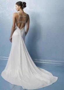 Az esküvői ruha hátsó részén levő