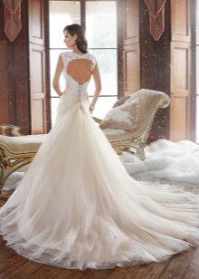 Lángolt esküvői ruha szoknya