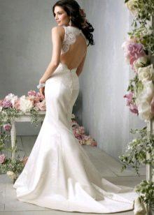 Esküvői ruha, derékig vágva