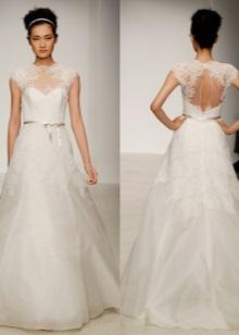 Nyitott esküvői ruha, fűzővel