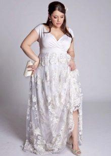 Esküvői ruha egy teljes lány buja csípő