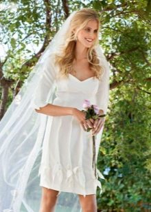 Rövid esküvői ruha
