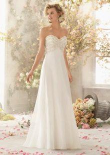 Szatén és organza szatén esküvői ruha