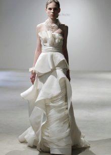 Esküvői ruha összetett vágott