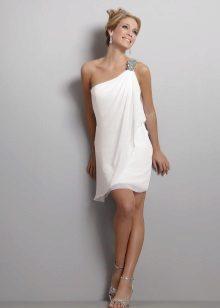 Áramló görög chiffon esküvői ruha