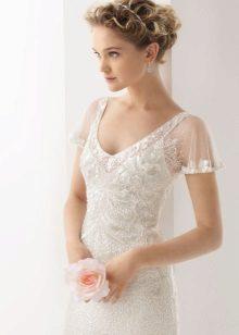Organza esküvői ruha ujjú