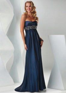 Vestido império azul