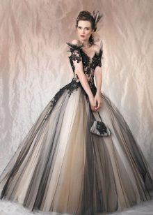 Cor do vestido de noite magnífico
