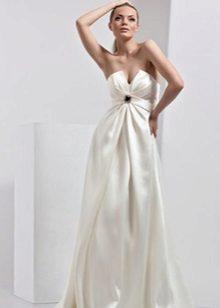 Сватбена рокля за майчинство с драперия