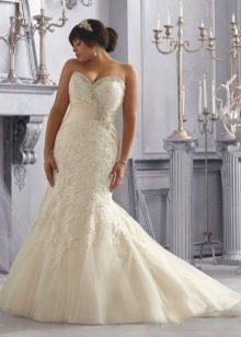 Vestit de núvia sirena per a núvies completes