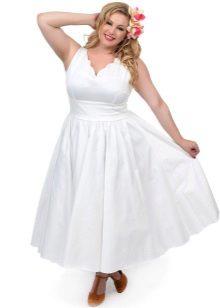 Vestit de núvia per a la curta completa amb una faldilla esponjosa