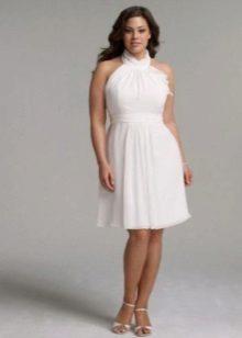 Vestit de núvia curt per a núvies d'organza complet