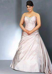 Vestit de casament complet amb un to lila