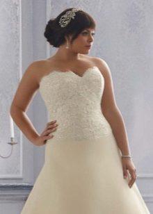 Vestit de núvia per a la llet plena