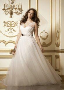 Vestit de casament blanc magnífic per a les núvies completes