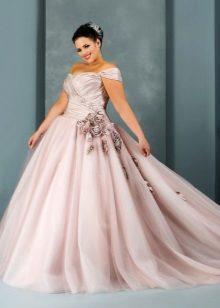 Vestit de color esponjós i casat per a les núvies completes
