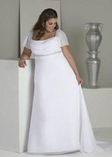 Vestit de núvia d'estil imperi amb mànigues