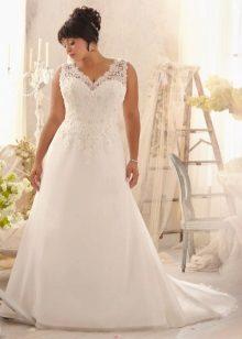 Vestit de núvia per a la núvia completa amb cordó
