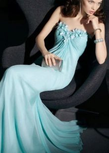 Evening turquoise dress by Rosa Clar
