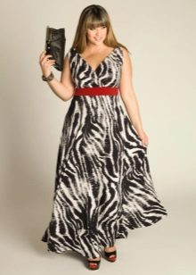 Avondjurk in de kleur van zebra