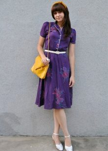 Violet dress with yellow