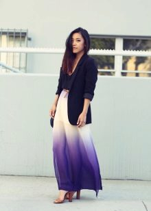 Purple dress with white
