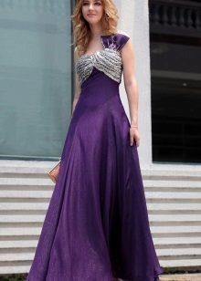 Dlouhé fialové šaty