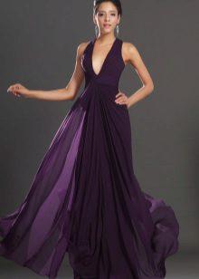 Fialové večerní šaty krásné