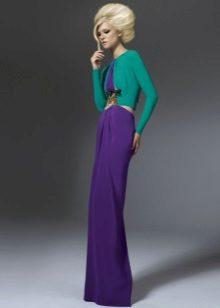 Purple dress with green