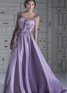 pakaian malam lavender pendek