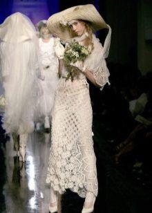 Horgolt esküvői ruha különböző technikákkal