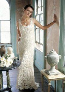 Horgolt esküvői ruha a kifutón