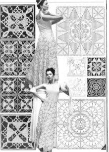 A második négyzet motívumának vázlata az esküvői ruha