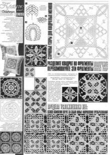 A vintage négyzetek motívumainak mintái
