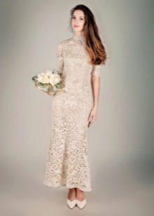 Horgolt esküvői ruha motívumokkal