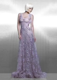 Lace Evening Lilac Dress