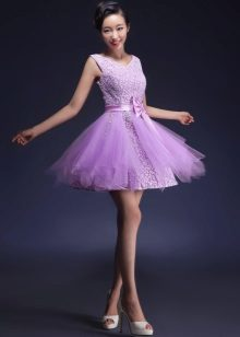 Lilac short evening dress tutu