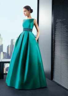 Evening turquoise dress from Rosa Clar magnificent