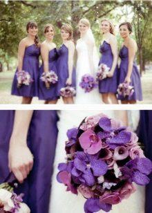 Violetti mekot bridesmaids