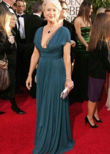 Vestido de noite com decote para mulheres de 50 anos