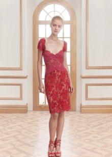 Jenny Packham vestido de noite vermelho