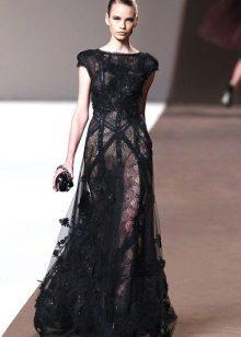 Vestido de noite de Elie Saab preto