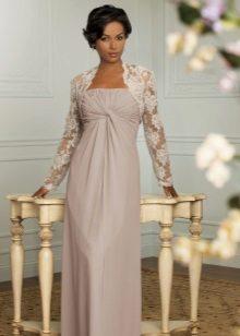 Vestido de noite império para a mãe da noiva