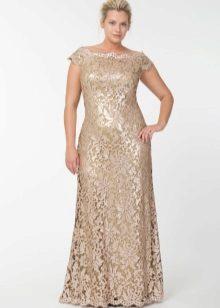 Vestido de noite de renda para a mãe da noiva