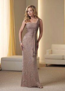 Vestido de noite para a mãe da noiva no estilo grego