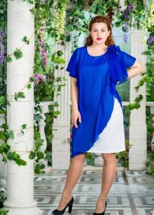 Vestido de noite branco e azul para mamãs cheias de noivas