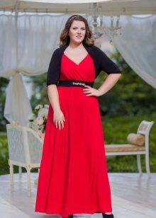 Vestido de noite para a mãe da noiva com uma fenda