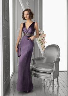 Vestido de noite para a mãe da noiva violeta